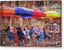 Load image into Gallery viewer, Patio At The Riverwalk - Acrylic Print