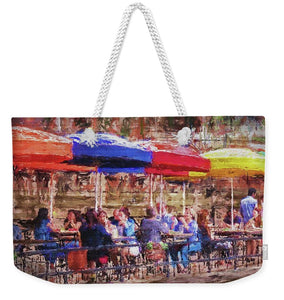 Patio At The Riverwalk - Weekender Tote Bag