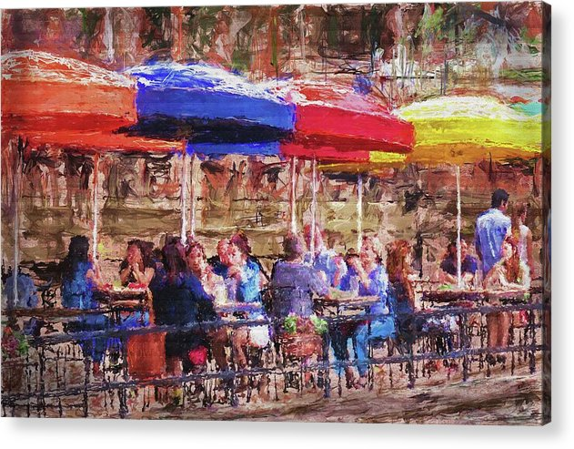 Patio At The Riverwalk - Acrylic Print