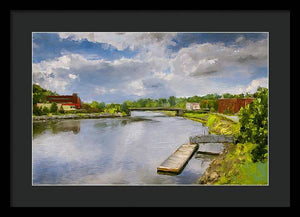 Saint John River Painting - Framed Print