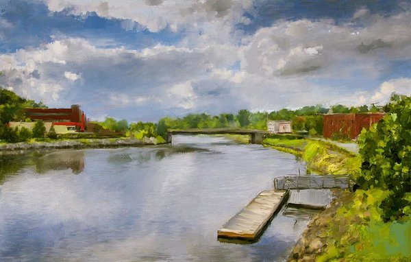 Saint John River Painting - Art Print