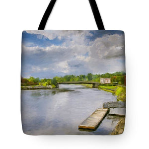 Saint John River Painting - Tote Bag