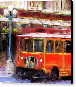 San Antonio 5 Oclock Trolley - Canvas Print