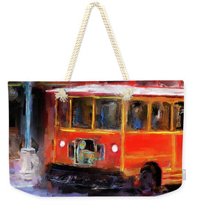 San Antonio 5 Oclock Trolley - Weekender Tote Bag