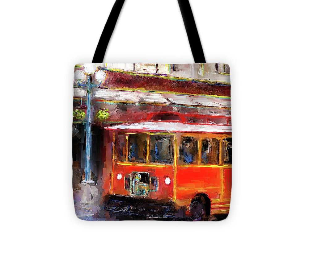 San Antonio 5 Oclock Trolley - Tote Bag