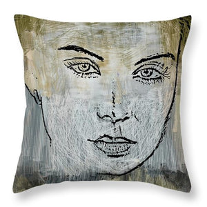 Shades Of Grey And Beige - Throw Pillow