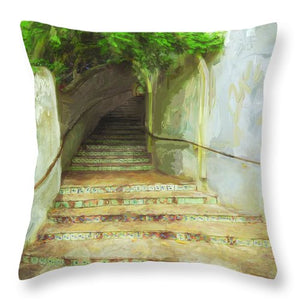 Steps To La Villita - Throw Pillow
