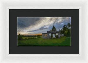 The Cabin On The Hill - Framed Print
