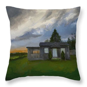 The Cabin On The Hill - Throw Pillow