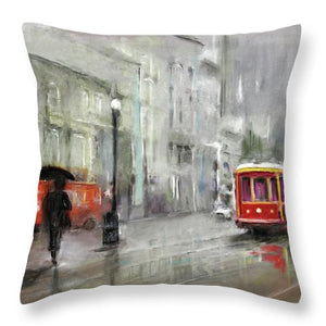 The Woman In The Rain - Throw Pillow