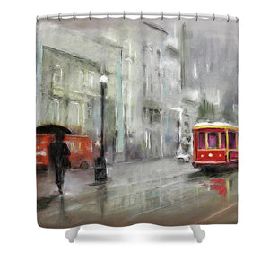 The Woman In The Rain - Shower Curtain
