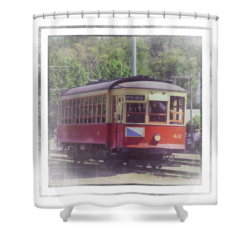 Trolley Car 42 - Shower Curtain
