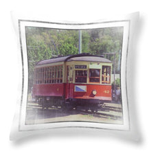 Load image into Gallery viewer, Trolley Car 42 - Throw Pillow