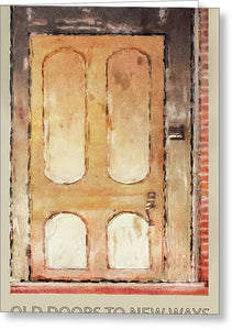 Vintage Door 3 - Greeting Card
