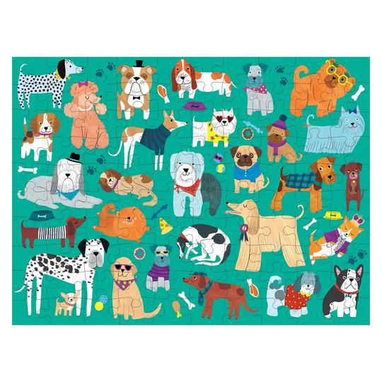 Cats & Dogs 100 Piece Double-Sided Puzzle