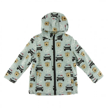Kickee Pants Print Sherpa Lined Raincoat - Jade Law Enforcement
