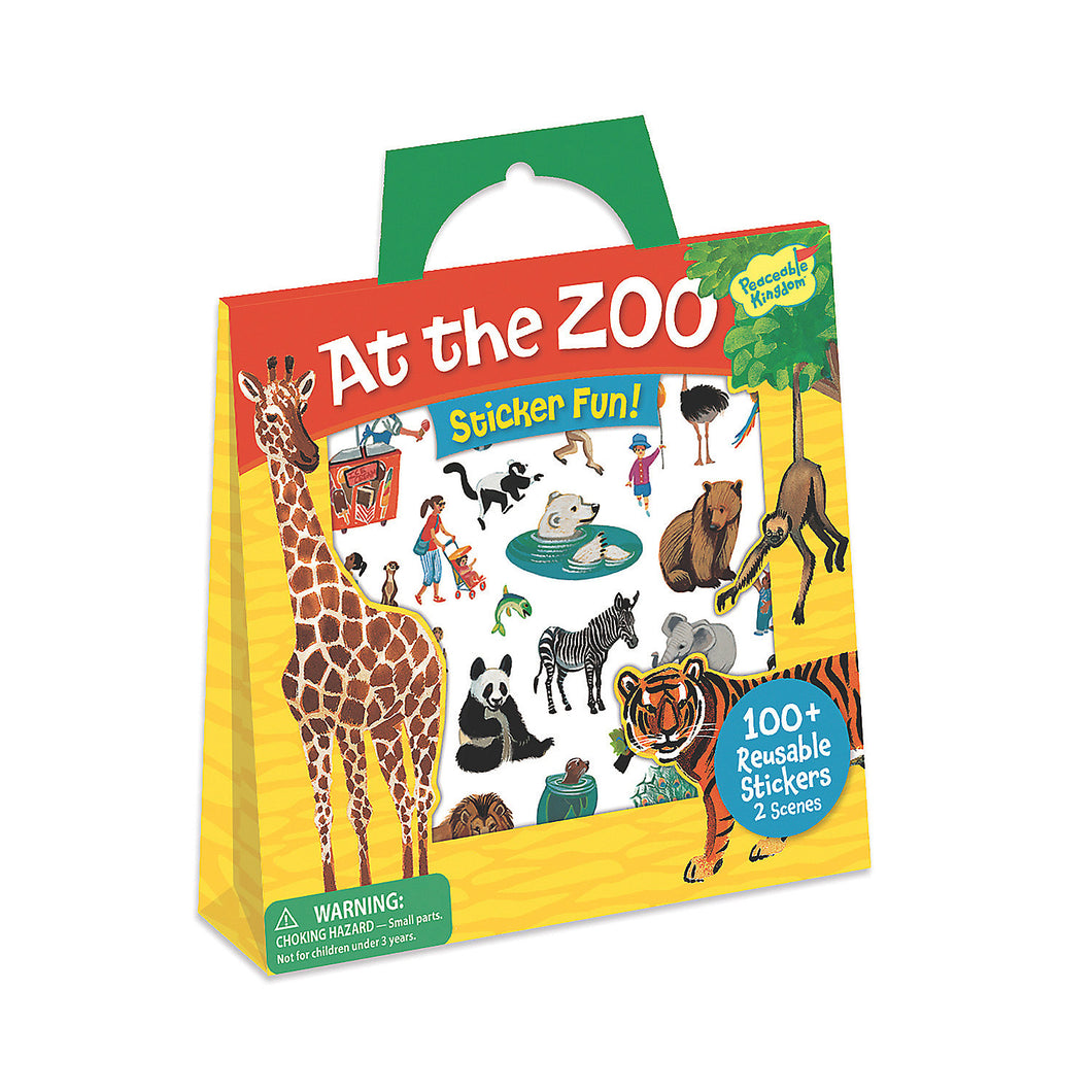 At The Zoo Sticker Tote