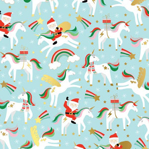 Santa Unicorn Gift Wrap