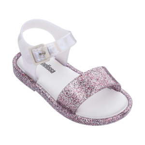 Mini Melissa Mar Sandal - Purple Glitter