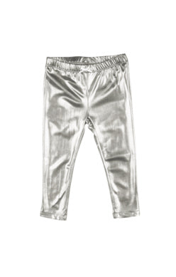 Pink Chicken Silver Lame Legging
