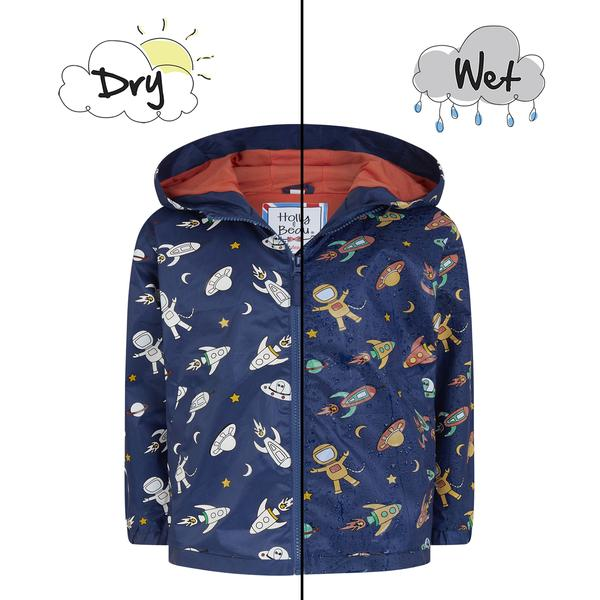 Space Color Changing Packaway Raincoat