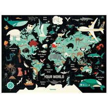 Load image into Gallery viewer, Map of the World - 1000 Piece Puzzle