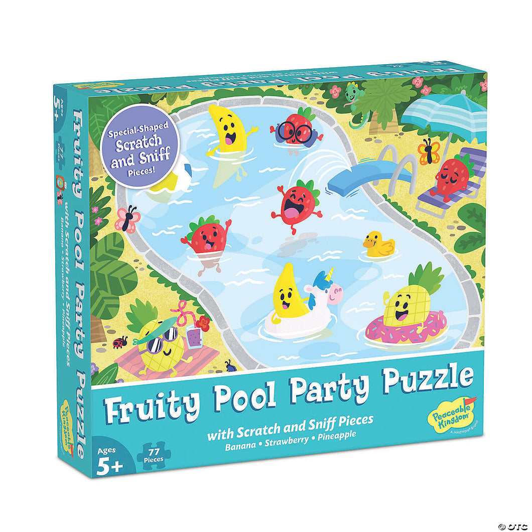 Scratch & Sniff Puzzle:  Fruity Pool Party