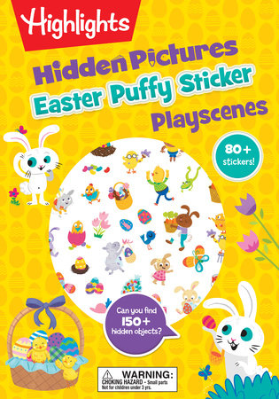 Easter Hidden Picture Puffy Sticker Playscene