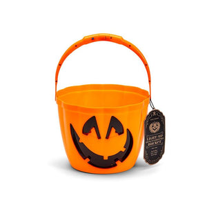 Jack O Lantern Candy Bucket With Light Up Handle