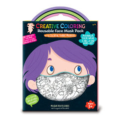 Creative Coloring Face Mask Set - kids sized