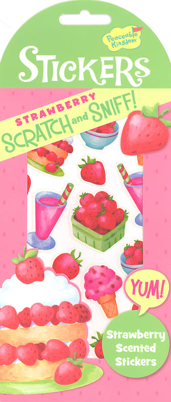 Scratch & Sniff Stickers:  Strawberry Sweets