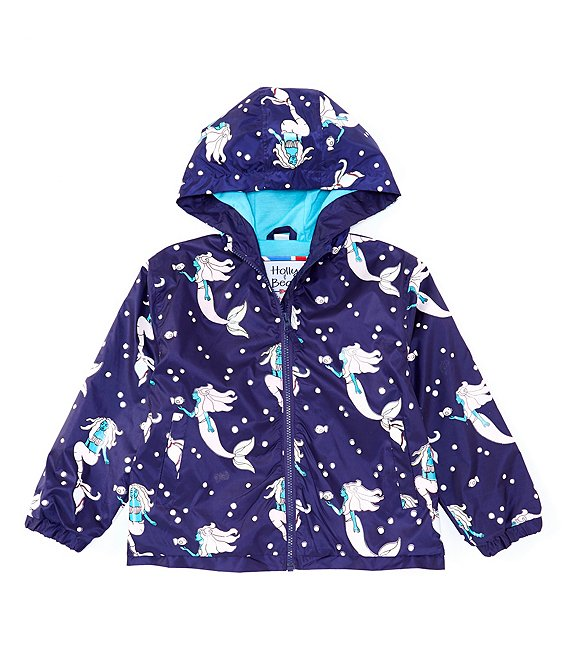 Mermaid Color Changing Packaway Raincoat