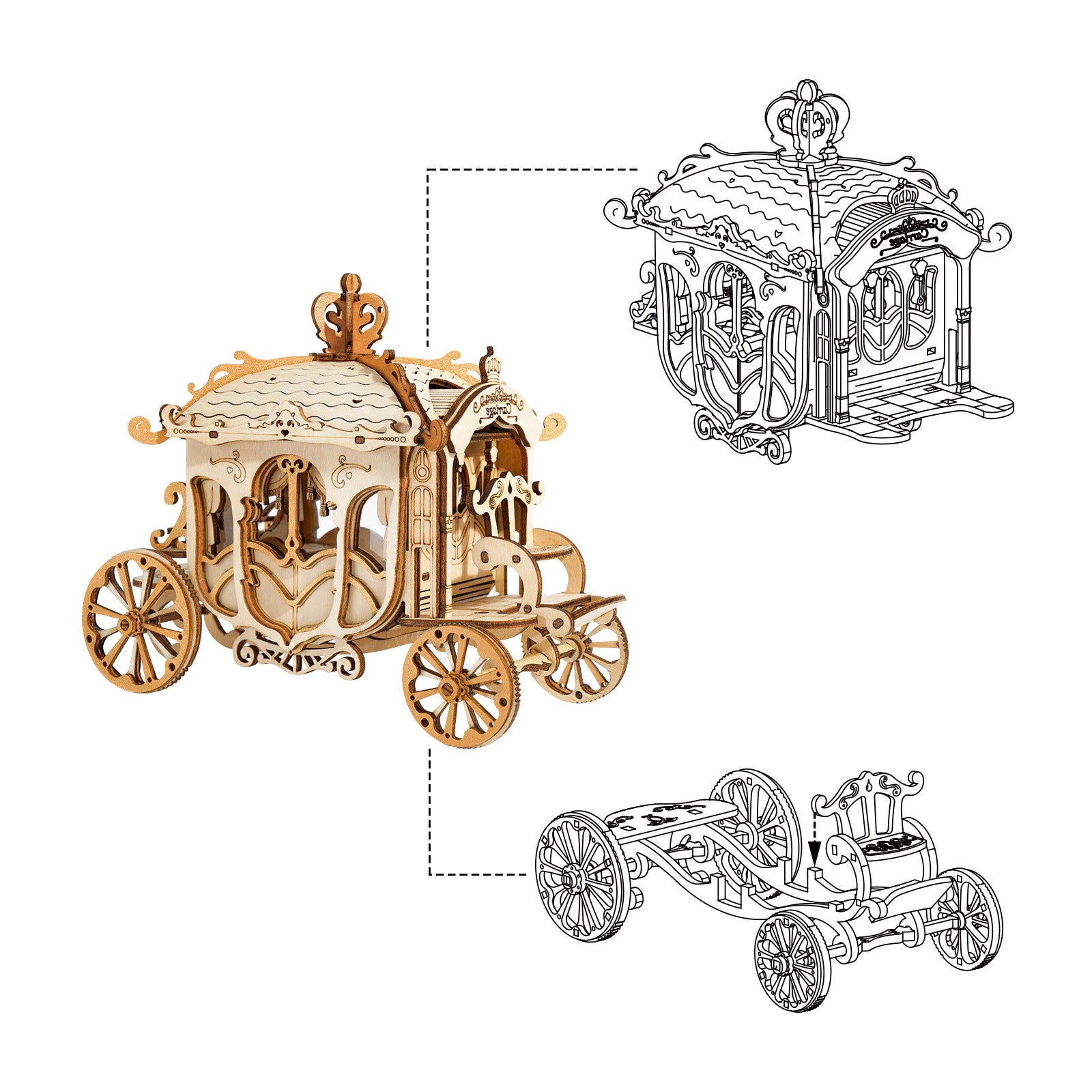 Puzzle 3D Carrosse Royal Britannique