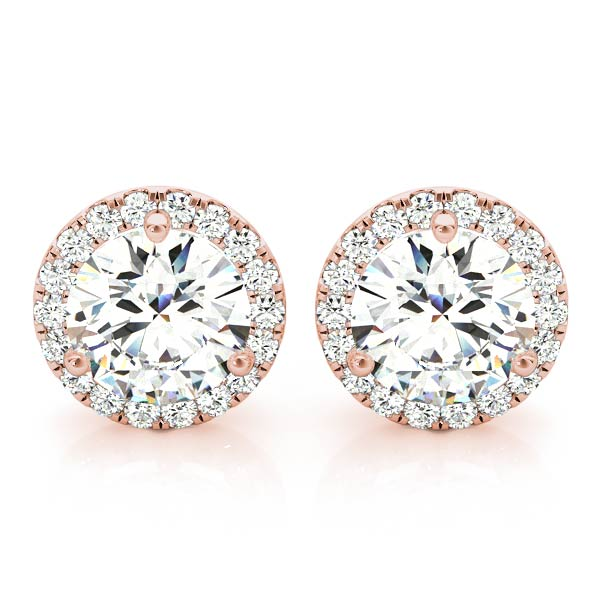 Brompton Halo Stud Earrings