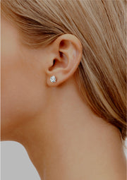 Martini Ice – Triple XXX stud earrings - White Gold 0.5 carat diamond