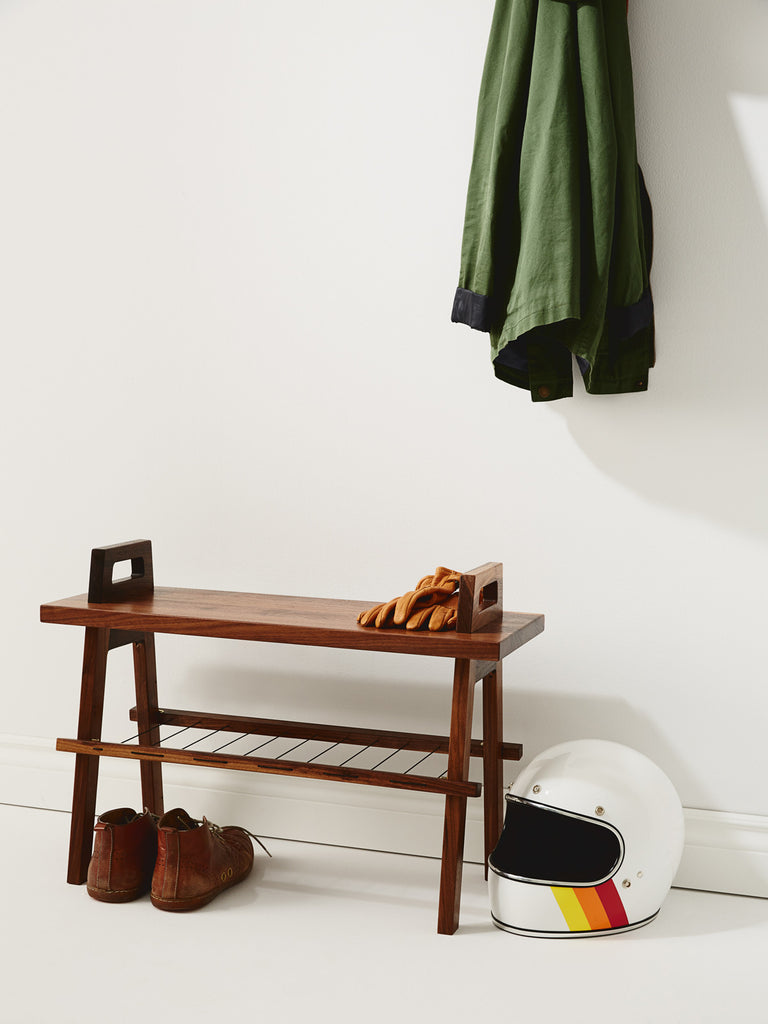 Us & Coutumes | Solid walnut B3 bench in entryway-1