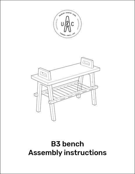 B3 BENCH ASSEMBLY INSTRUCTIONS MANUAL