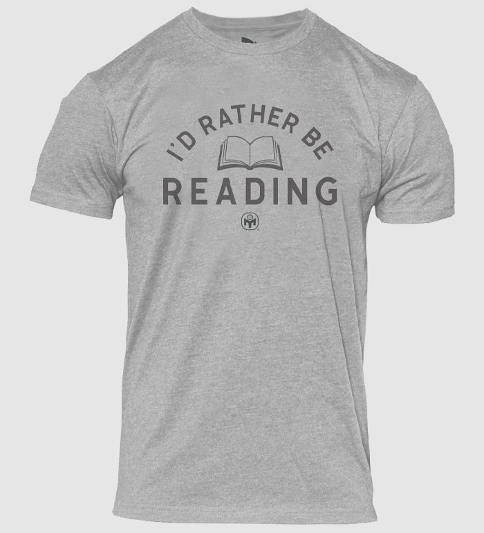 I'd Rather Be Reading Tee - Dark Heather Grey