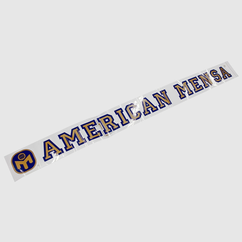American Mensa Window Decal - Out