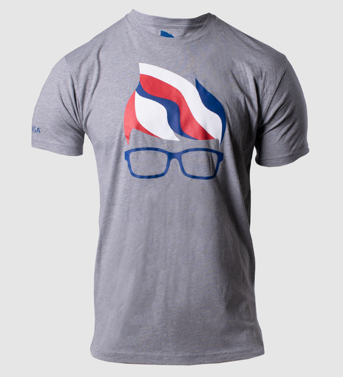 USA Geeky Tee - Dark Heather Grey