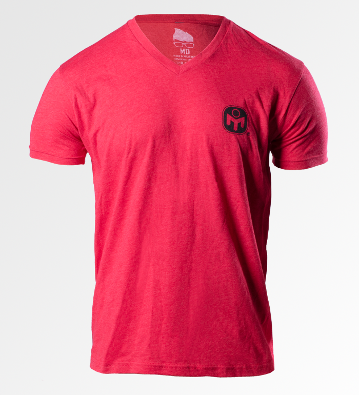 V-NECK ICON TEE - RED