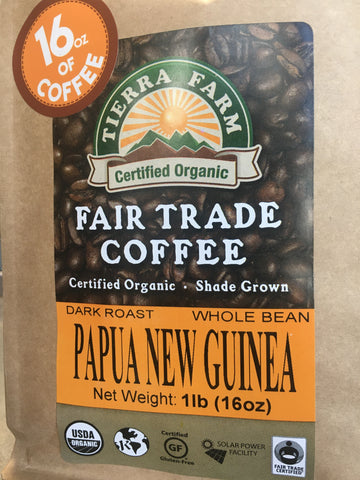 Coffee Papau New Guinea Org 1Lb