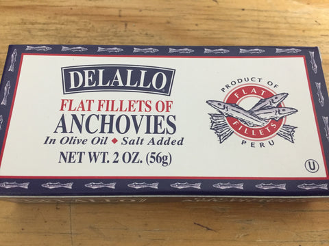 Anchovies Flat Fillet, Delallo