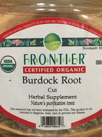 Burdock Root Cut Org (per oz)