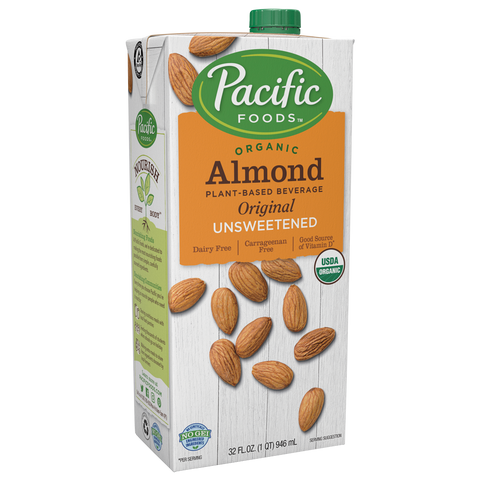 Almond Milk Organic Unsweetened Pacific Foods 32 oz