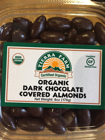 Almonds Chocolate Covered Organic Tierra Farms 6 oz