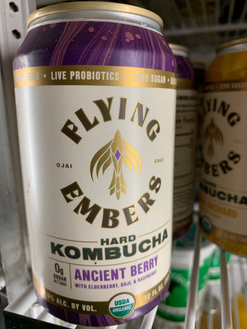 Flying Embers - Hard Kombucha Ancient Berry 12 oz can each