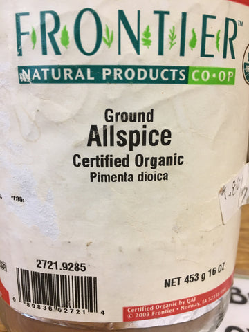 Allspice Powder Org (per oz)