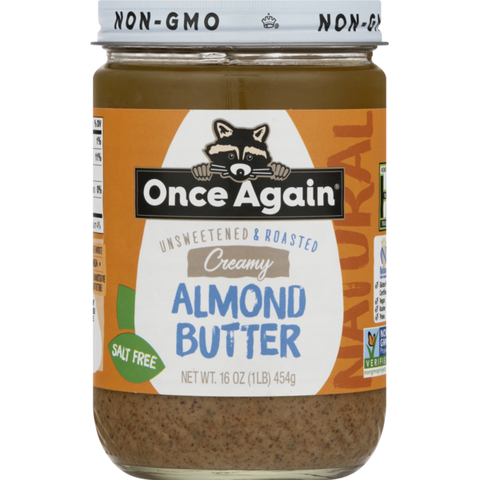 Almond Butter Smooth Once Again 16 oz