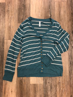 Primary Photo - BRAND: ZENANA OUTFITTERS <BR>STYLE: SWEATER CARDIGAN LIGHTWEIGHT <BR>COLOR: STRIPED <BR>SIZE: 2X <BR>SKU: 137-137136-24266